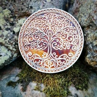 Indiska trästämplar Livets träd - Indisk trästämpel Livets Träd