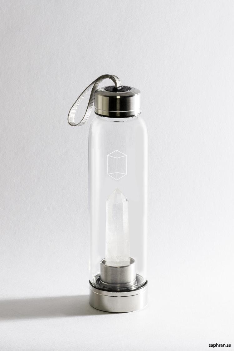 Glacce bergskristall komplett vattenflaska i glas