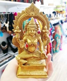 Lakshmi, staty mässing - Lakshmi staty