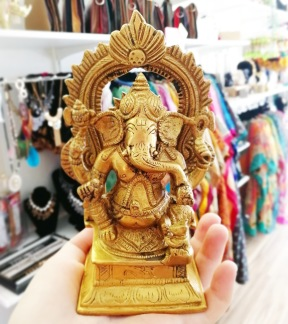 Ganesh, staty mässing - Ganesh staty