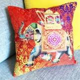 Kuddfodral Färgglad Elefant