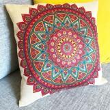 Kuddfodral Färgglad Mandala
