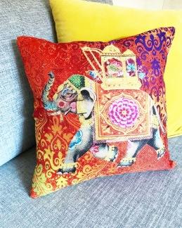 Kuddfodral Färgglad Elefant - Färgglad Elefant 40x40 cm