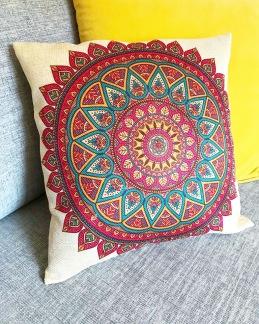 Kuddfodral Färgglad Mandala - Färgglad Mandala