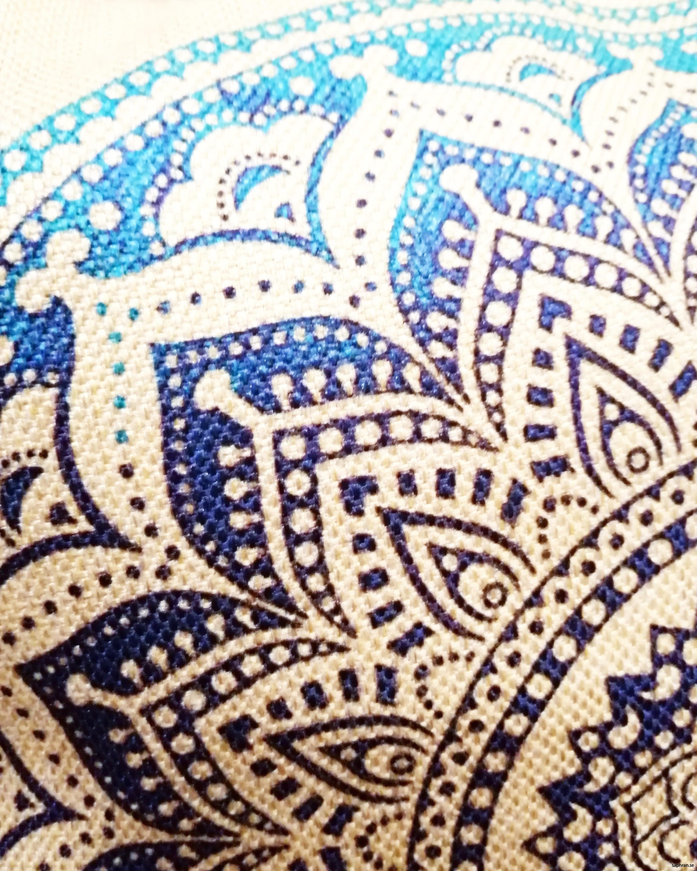 mandala i havsblå färger