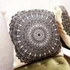 Kuddfodral Mandala Svartvit - Mandala Svartvit 58x58 cm