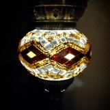 Orientalisk lykta Brun och guld Liten