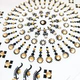 Bindi smycken stor karta - Guld