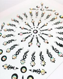 Bindi smycken stor karta - Orientaliska - Orientaliska pärlemo