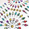 Bindi smycken stor karta - Färgglada - Färgglada