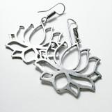 Örhängen Lotusblomma silver