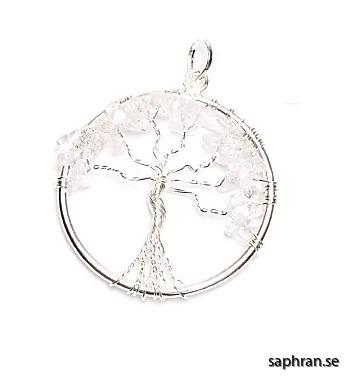Livets träd hänge bergkristall