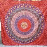 Röd med blåa detaljer Mandala