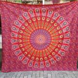 Mandala Peacock Röd