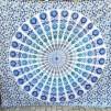 Peacock Mandala Turkos två olika färger - Mörkturkos