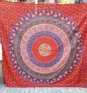 Röd med blåa detaljer Mandala - Rödblå