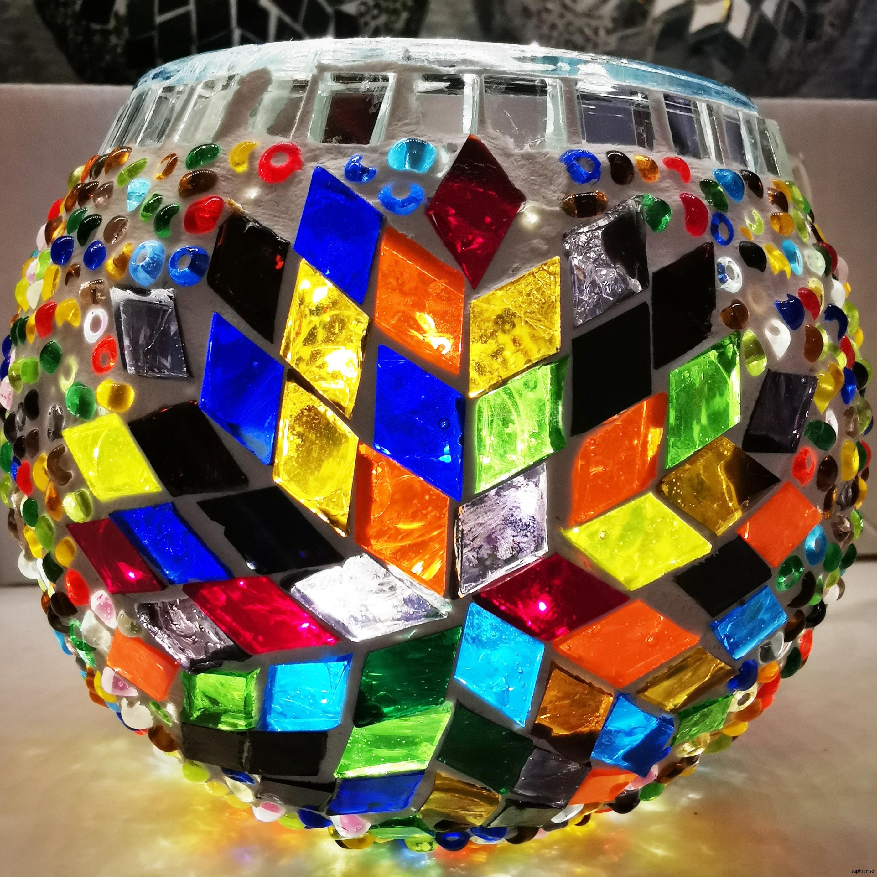 Mosaik, lykta, multi rund