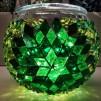 Rund orientalisk ljuslykta - Grön