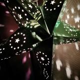 Glittrig julstjärna/adventsstjärna - GRÖN