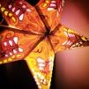 Glittrig färgglad julstjärna/adventsstjärna - ROSA