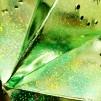 Glittrig julstjärna/adventsstjärna - GRÖN - Grön