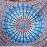 Mandala Peacock Havsblå liten