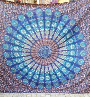 Mandala Peacock Havsblå liten - Havsblå