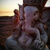 Ganesha staty - Vit