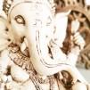 Ganesha staty - Vit - Liten  23 cm