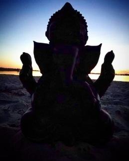 Ganesha staty - Svart - Stor 32 cm