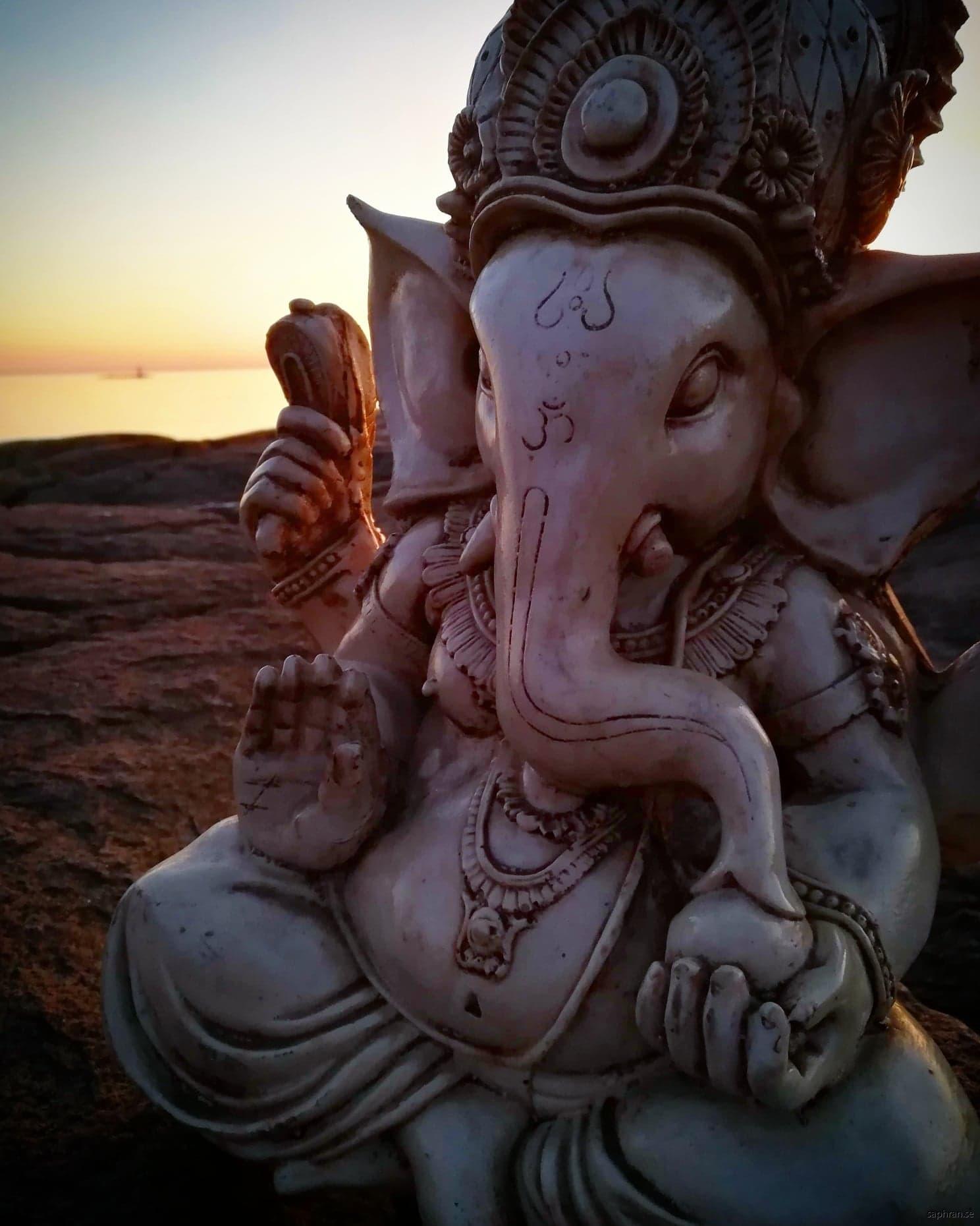 Unik staty föreställande Ganesha