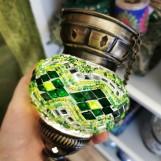 Orientalisk lykta Grön Liten