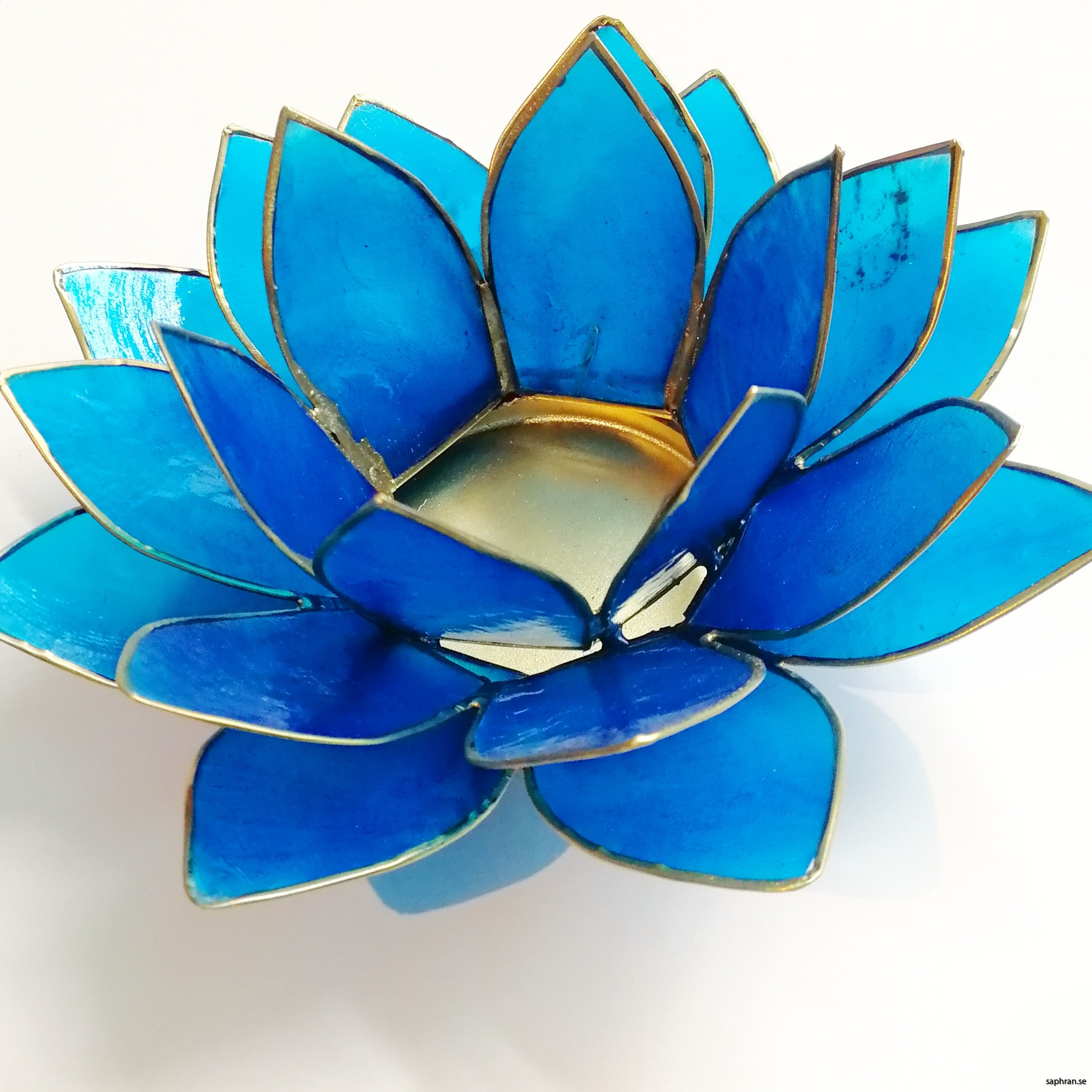Lotusblomma ljuslykta 7 färger, blå