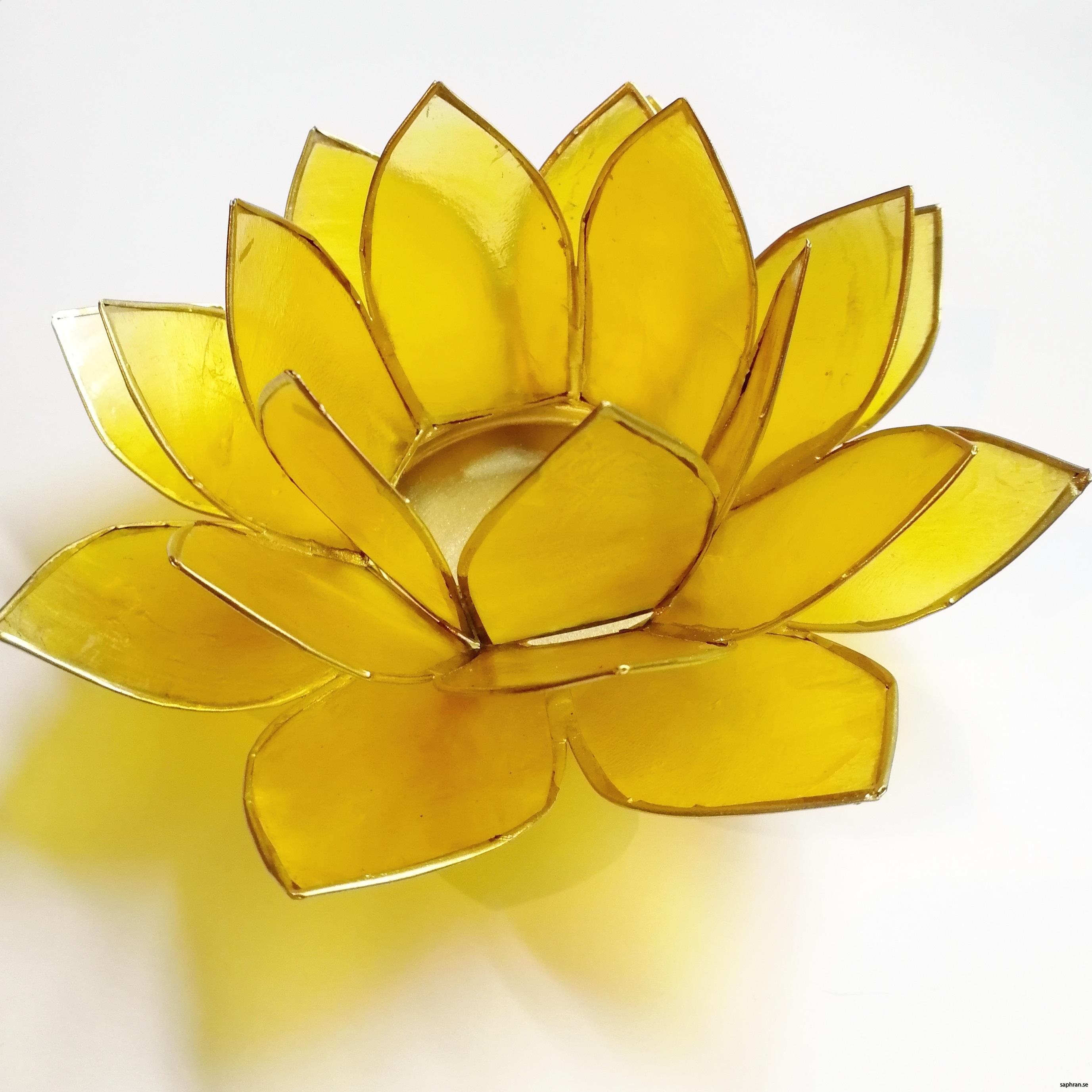Lotusblomma ljuslykta 7 färger, gul