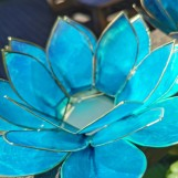 Lotusblomma ljuslykta - Turkos