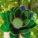 Lotusblomma ljuslykta - Grön