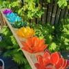 Små lotusblommor ljuslykta - Chakra - 7 färger