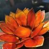 Små lotusblommor ljuslykta - Chakra