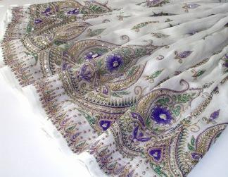 Bollywood kläder kjol Vit 2: hand - Vit