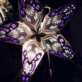 Färgglad julstjärna/adventsstjärna - Lila