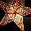 Färgglad julstjärna/adventsstjärna - ROSA