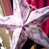 Färgglad julstjärna/adventsstjärna - Lila - Lila