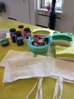 Skapande: Tygkassar & T-shirts med textiltryck