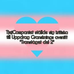 """TjejCompaniet ställde sig kritiska till Uppdrag Gransknings avsnitt """"Tranståget del 2"""", läs mer om detta på vår Instagram"""