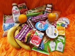 Portionspackat mellis pga Covid-19, men lika gott ändå! Yoghurt, Risifritti, panpizza, nudlar, frukt och dryck.