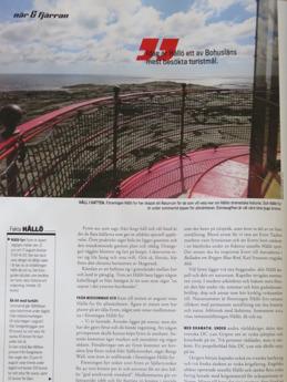 Flera bilder från ön Hållö i tidningen Båtnytt.