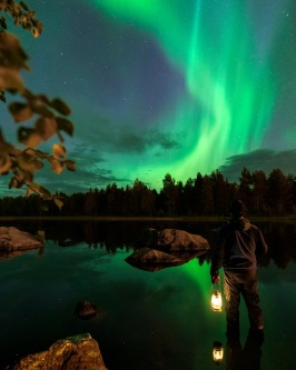 Foto: Lars-Olov Hultebrand / Lappland. Lycksele.Norrskensdebuten.