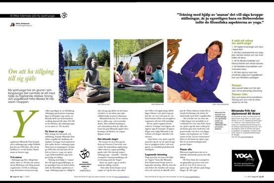 Artikel i tidningen yoga för dig 2014