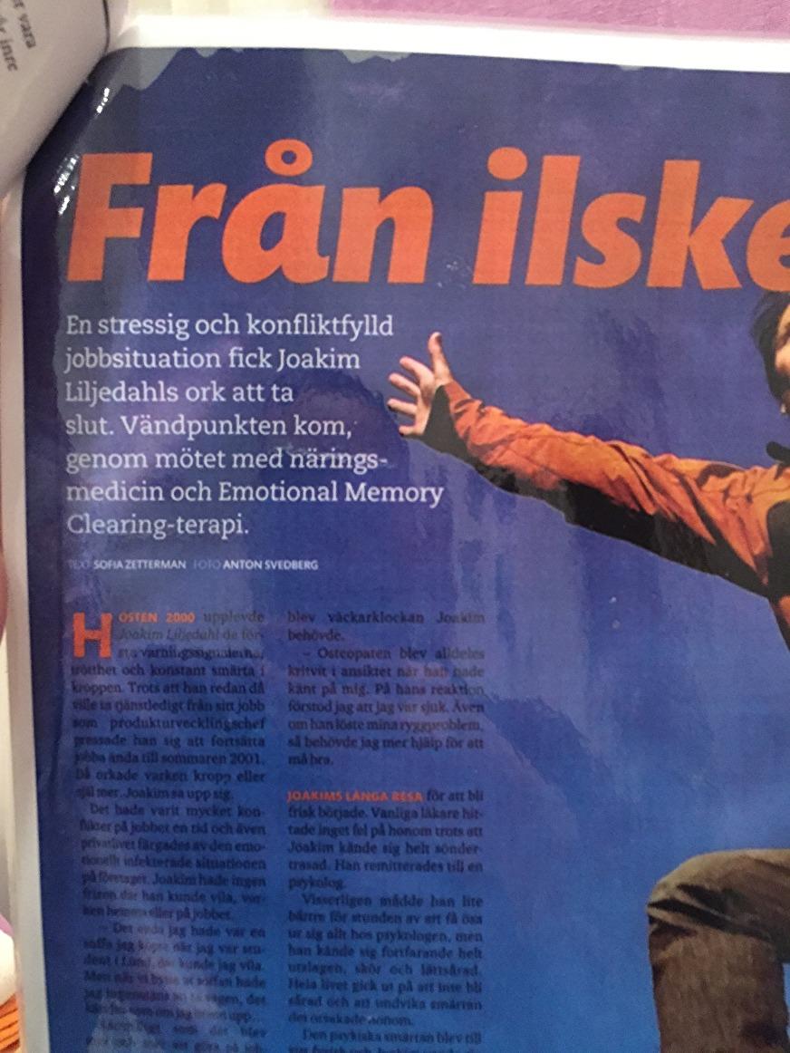 Artikel i tidningen HÄLSA sept 2010