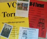 Några gamla broschyrer på WO-tornet